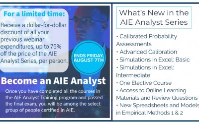 Special Introductory Offer on New AIE Analyst Series Through August 7th