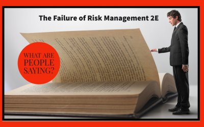 "What They're Saying About ""The Failure of Risk Management 2E"""